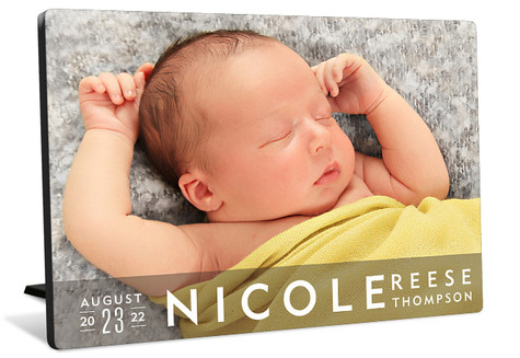 Simple Name Tabletop Photo Panel