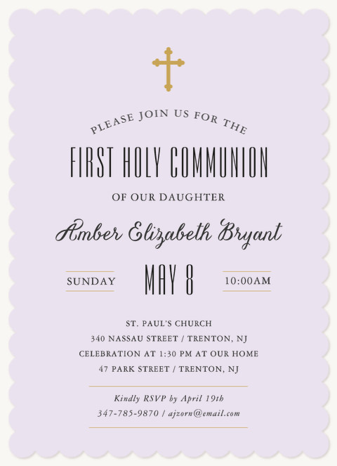 Blessed Day First Communion Invitations