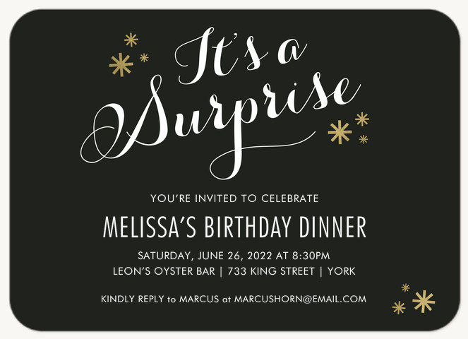 Sweet Surprise Adult Birthday Party Invitations