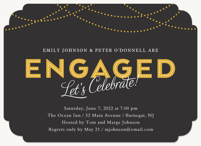 Love Marquee Engagement Party Invitations