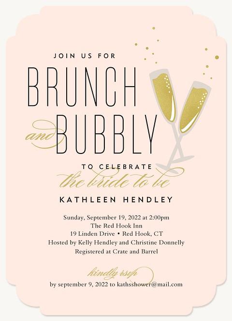Bubbly Brunch Bridal Shower Invitations