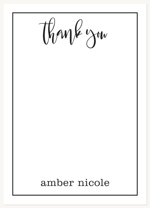 Chic Appreciation Thank You Cards
