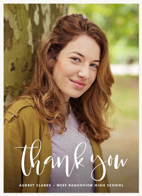 Contemporary Calligraphy Thank You Cards