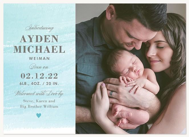 Gentle Colorwash Baby Announcements