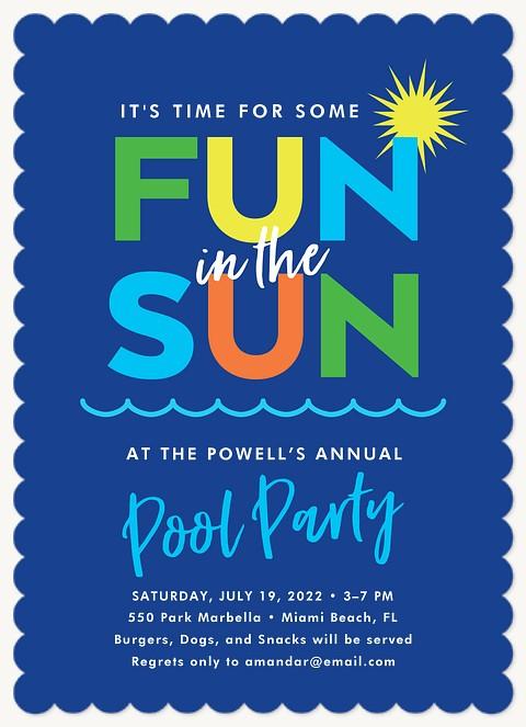 Fun In The Sun Summer Party Invitations