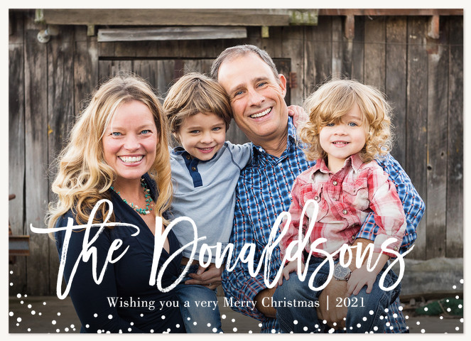 Fallen Snowflakes Personalized Holiday Cards