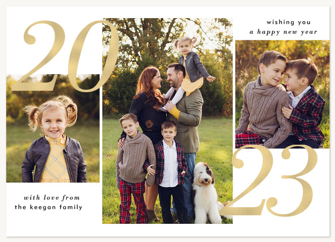 Chic Year Personalized Holiday Cards