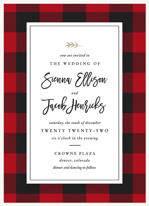 Buffalo Plaid Wedding Invitations