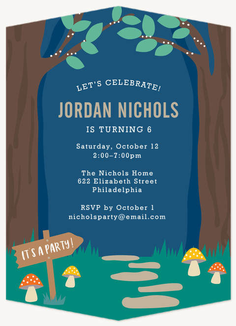 Enchanted Forest Kids Birthday Invitations