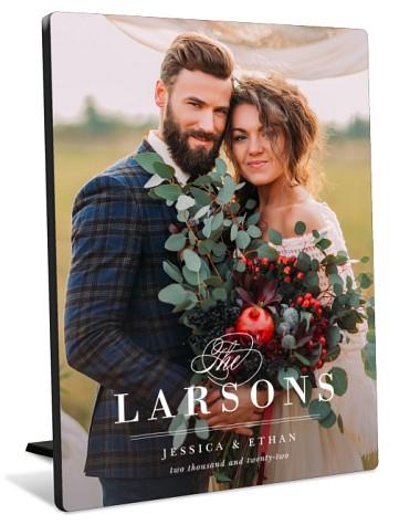 Elegant Name Tabletop Photo Panel