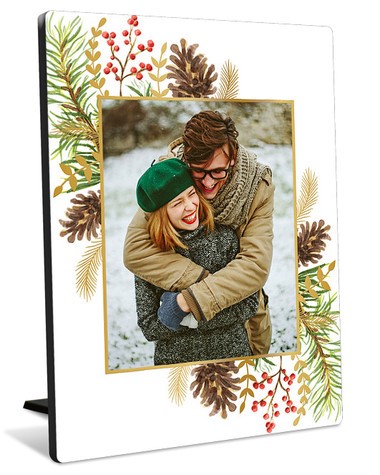 Pine Potpourri Tabletop Photo Panel