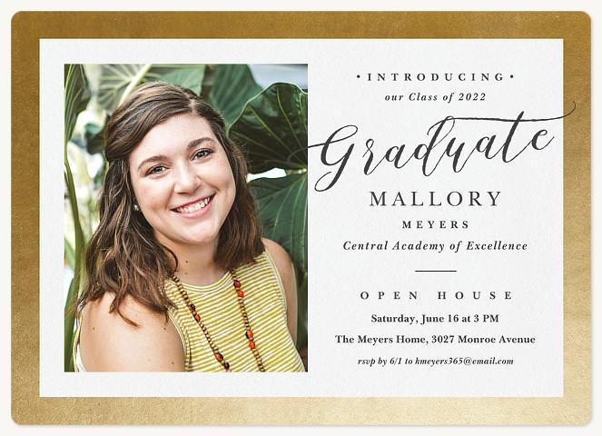 Brilliant Alumni Graduation Invitations