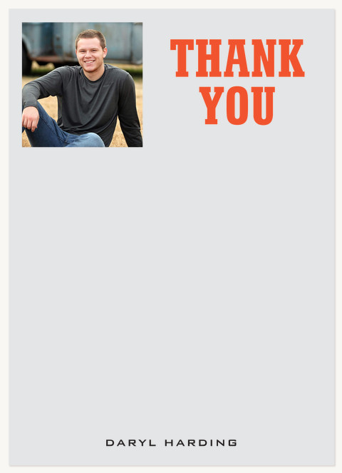 Yearbook Page Thank You Cards