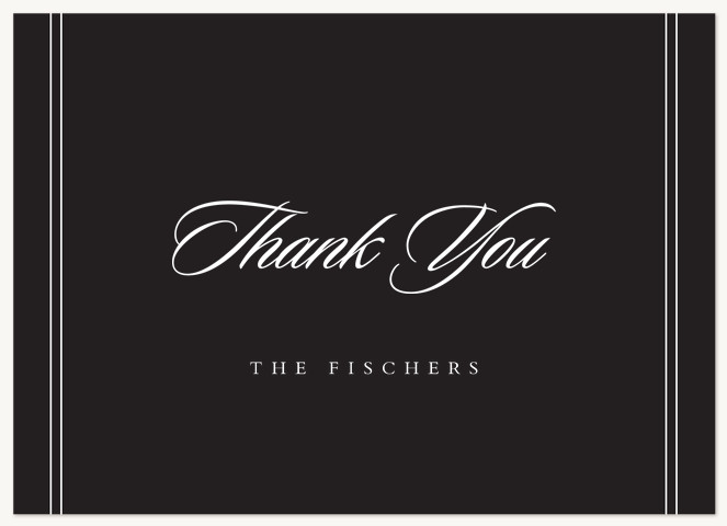 Formally Stated Thank You Cards