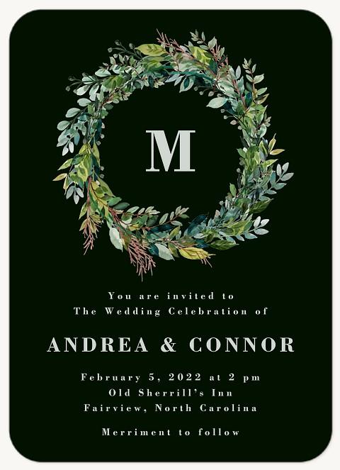 Natural Wreath Wedding Invitations