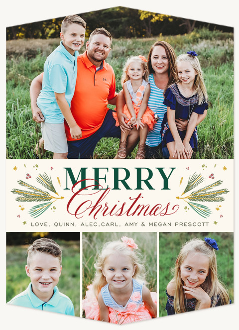 Traditional Pines Personalized Holiday Cards
