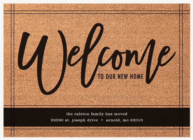 Welcome Mat Moving Announcements