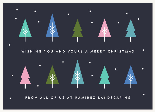 Tree Line Business Holiday Cards