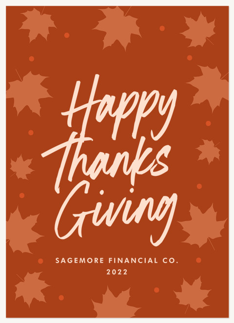 Autumn Thanks Business Holiday Cards