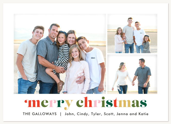 Colorful Fun Christmas Cards