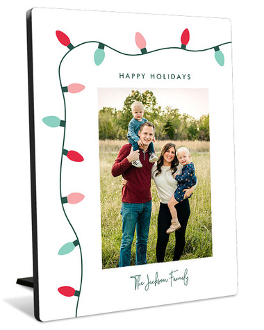 String Of Lights Tabletop Photo Panel