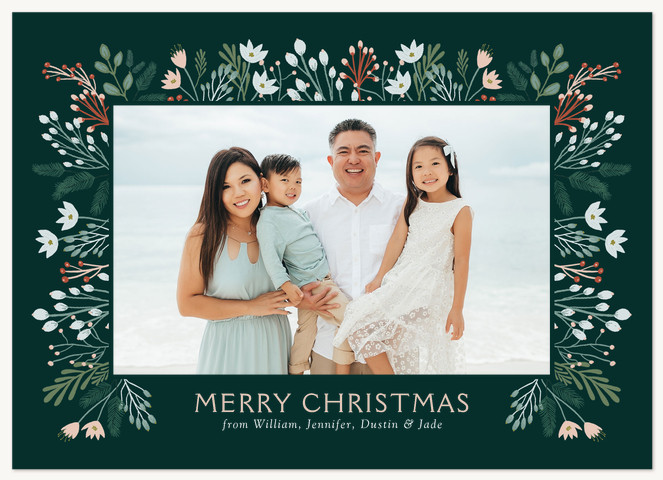 Berries and Blooms Personalized Holiday Cards