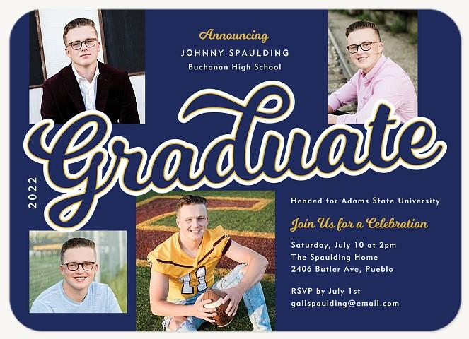 Collegiate Script Graduation